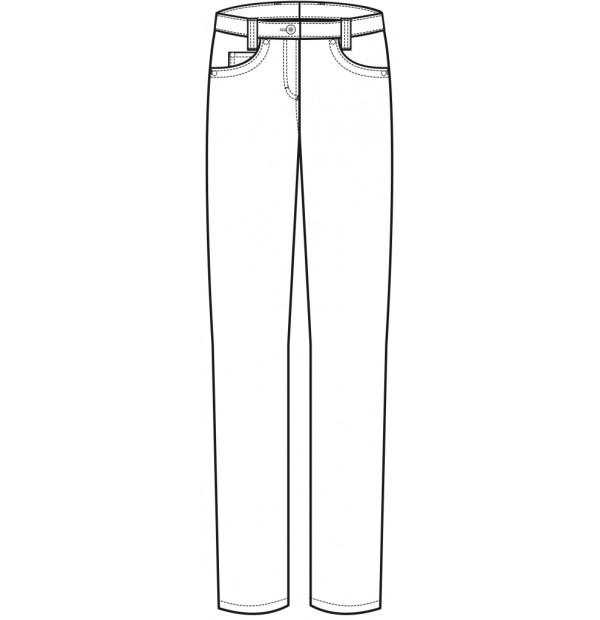 Naiste stretch kokapüksid teksa stiilis