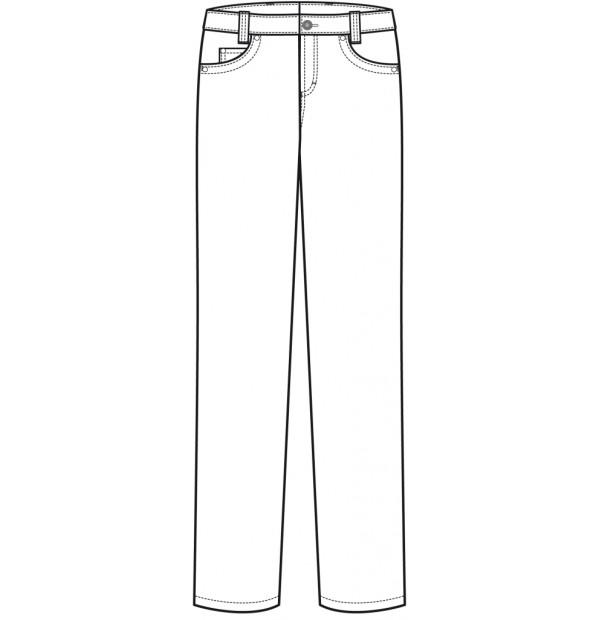Meeste stretch kokapüksid teksa stiilis