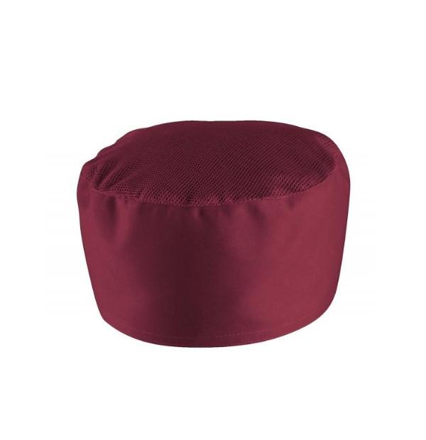 Müts pealt võrguga bordeaux