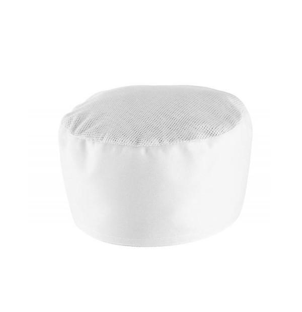 Müts pealt võrguga, valge