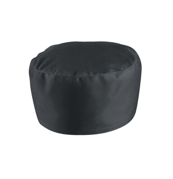 Müts pealt võrguga, must